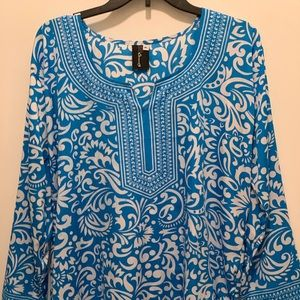 Tops - Sapphire Blue Indian Tunic